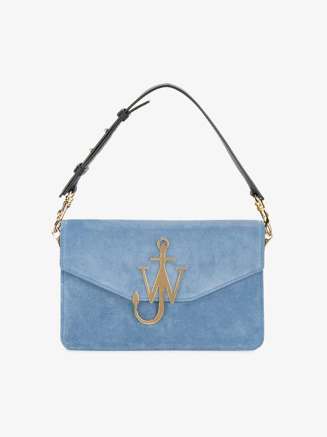 J.W.Anderson Bluebird Logo Suede Shoulder Bag