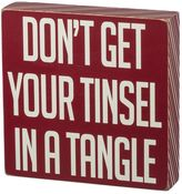 """Don't Get Your Tinsel"" Christmas Wood Wall Art"
