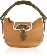 Buti Tan Pebble Leather Hobo Bag