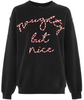 Topshop Naughty but nice sweat top