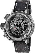 U-Boat 8066 Chimera titanium leather strap watch