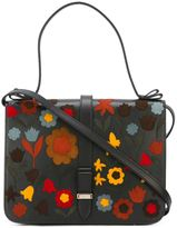 RED Valentino flower appliqué shoulder bag