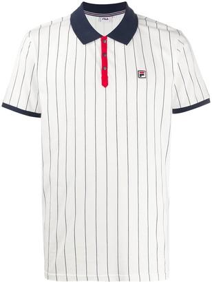 Fila Pinstriped Logo Polo Shirt