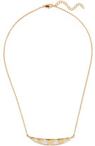 Noir Taken Gold-Tone Crystal Necklace