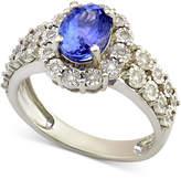 Macy's Tanzanite (1-1/5 ct. t.w.) and Diamond (1/4 ct. t.w.) Ring in 14k White Gold