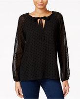Sanctuary Avery Dot-Print Peasant Blouse