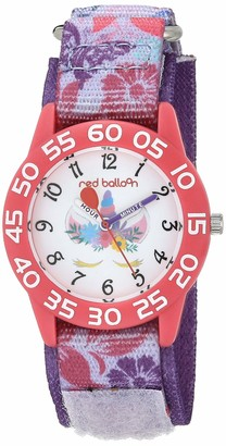 EWatchFactory Girls' Red Balloon Analog Quartz Watch with Nylon Strap