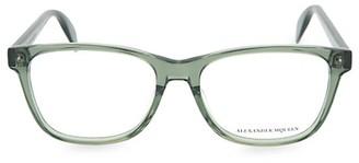 Alexander McQueen 55MM Blue Light Core Square Reading Glasses