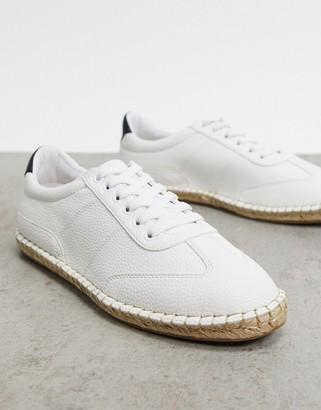 Asos DESIGN espadrille sneakers in white