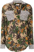 Equipment printed pocket shirt - women - Silk - XS