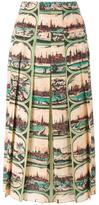Gucci cityscape pleated skirt - women - Silk - 40