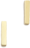 Jennifer Meyer Jewelry 18k Gold Bar Stud Earrings