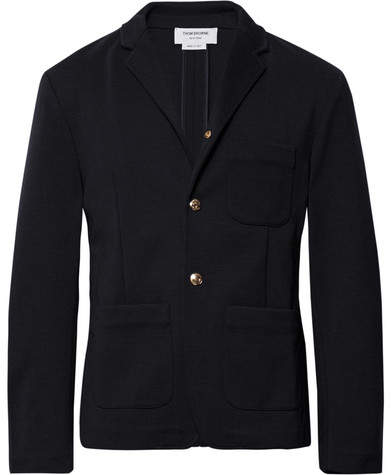Thom Browne Midnight-Blue Unstructured Wool Blazer