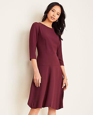 Ann Taylor Tall Seamed Flare Dress