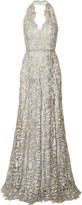 Marchesa Lace halterneck gown