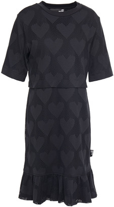 Love Moschino Gathered Mesh Dress