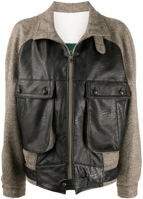 Jejia Chevron Knit Wool Jacket