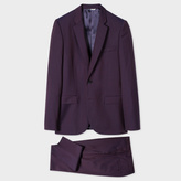 Paul Smith Men's Mid-Fit Purple Wool And Mohair-Blend Suit