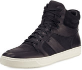Vince Adam Leather High-Top Sneaker, Black