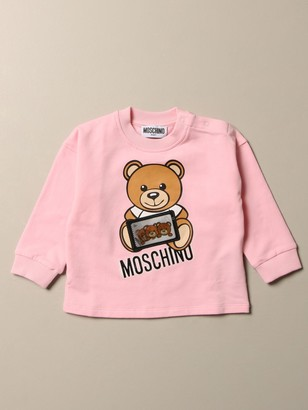 MOSCHINO BAMBINO Sweater With Teddy Game Logo