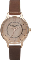 Olivia Burton OB14WD22 Wonderland rose gold-plated and leather watch