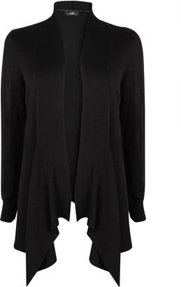 Wallis Black Wool Blend Waterfall Cardigan
