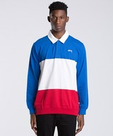 Stussy 3 Tone Long Sleeve Rugby Polo Shirt