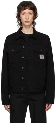 Carhartt Work In Progress Black Denim Stetson Jacket