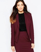 French Connection Glass Fitted Blazer In Berry