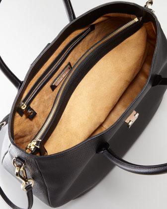Jimmy Choo Rania Grainy Leather Tote Bag