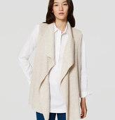 LOFT Petite Ribbed Sweater Vest