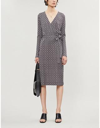 Diane von Furstenberg Karis printed silk-jersey wrap dress