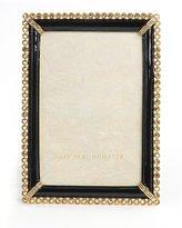 "Jay Strongwater Black Lorraine Stone-Edge 4"" x 6"" Frame"