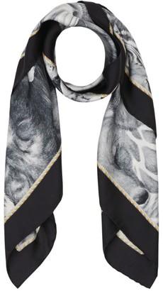 Burberry Animalia Print Silk Square Scarf