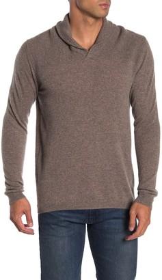 Autumn Cashmere Modified Shawl Stitch Yoke Cashmere Sweater