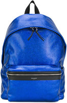 Saint Laurent metallic City backpack