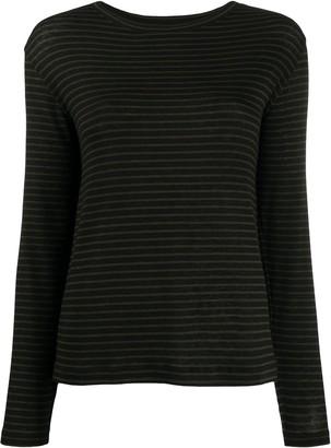 Vince Stripe Print Knit Top
