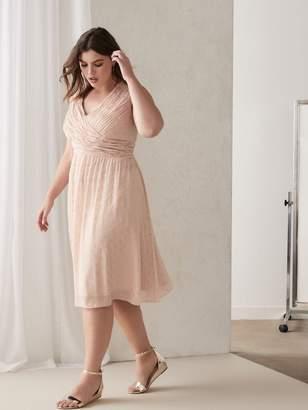 Draped Sleeveless Georgette Dress