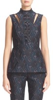 Yigal Azrouel Jacquard Knit Peplum Top