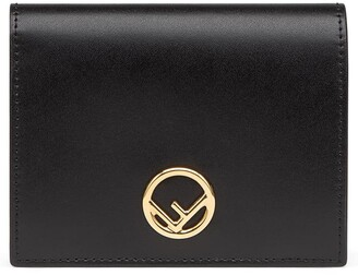 Fendi Small F is Logo Leather French Wallet