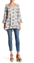 Lucy-Love Lucy Love Bell Sleeve Knit Print Tunic