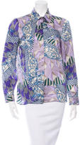 Versace Abstract Print Silk Top