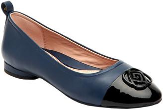 Taryn Rose Penelope Butter Weatherproof Leather Flat
