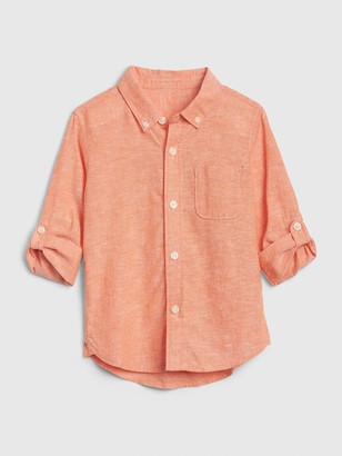 Gap Toddler Long Sleeve Linen-Cotton Shirt