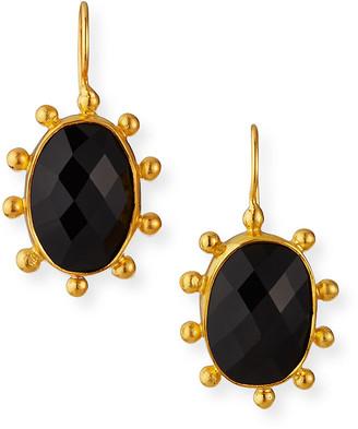 Dina Mackney Large Black Onyx Pinwheel Earrings