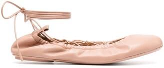 Gianvito Rossi Lace-Detail Ballerinas