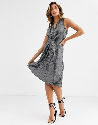 Closet London Closet silver skater dress