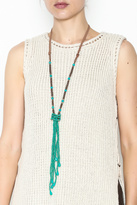 Southern Living Beaded Tassel Necklace