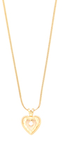 Vanessa Mooney Nora Heart & Crystal Necklace