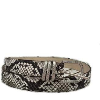 Leather Rock Snake Print Leather Belt